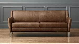alfred leather sofa CB2
