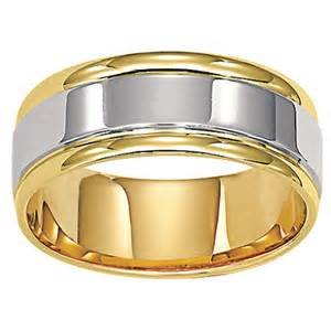 zales mens wedding bands zales 39 s 8 0mm comfort fit wedding band in 14k two tone gold zales 1257 wedding