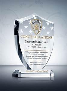 Shield Police Graduation Plaque