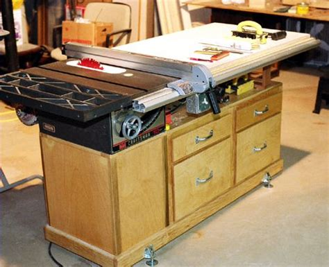 tablesaw workstation woodworking projects plans
