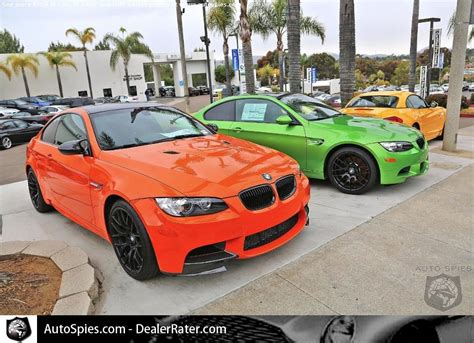Bmw M Cars In Cool Colors. I Like The Orange, As Loud As