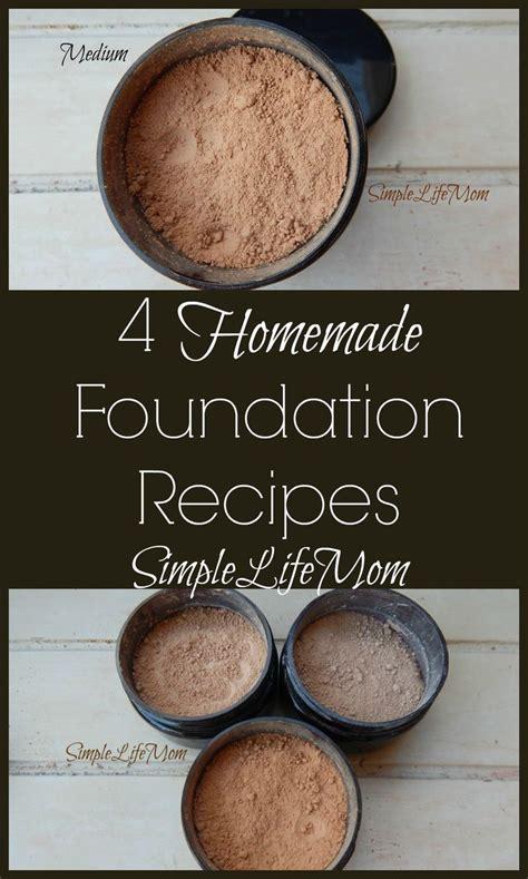 homemade foundation recipes homemade foundation