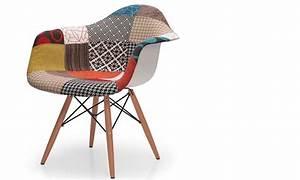 Fauteuil Salle à Manger : fauteuil salle manger design en tissu aux motifs patchwork barti lot de 4 ~ Teatrodelosmanantiales.com Idées de Décoration