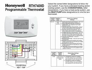 Heat Pump Thermostat Wiring Diagram Honeywell  With Images