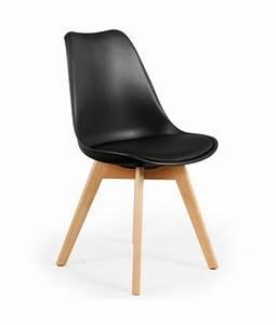 Chaise Scandinave Noir : chaise scandinave noire pas cher design nordique scandinave deco ~ Teatrodelosmanantiales.com Idées de Décoration