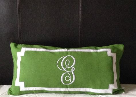 personalized long lumbar pillow cover bedroom  snazzyliving