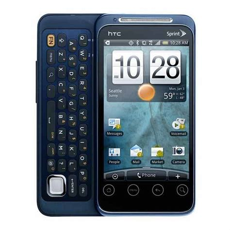 cheap phones htc evo shift 4g sprint android refurbished phone blue