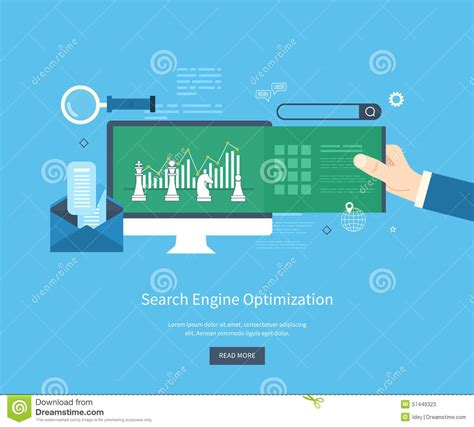 Web Search Engine Optimization - seo icons stock vector image 57449323