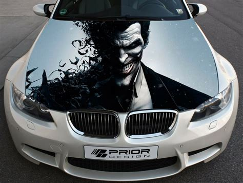 Vinyl Wrap Car Hood Full Color Graphics Decal Joker