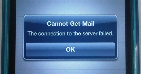 cannot get mail iphone knowledge base iphone cannot get mail the connection