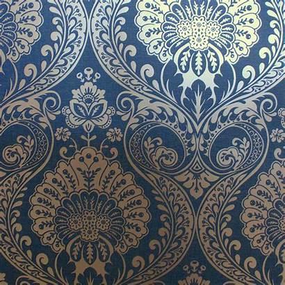 Navy Gold Damask Arthouse Metallic Decoris Pink