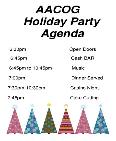 christmas agenda template 43 free agenda templates