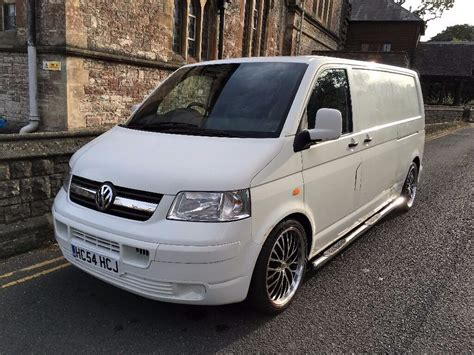 t5 2 5 tdi vw transporter t5 2 5 tdi 130 bhp lwb 20 quot alloys coilovers project tailgate white
