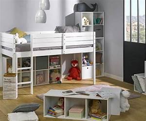 Hochbett Mit Babybett : kinder halb hochbett paraiso aus massivholz mit matratze ~ Orissabook.com Haus und Dekorationen