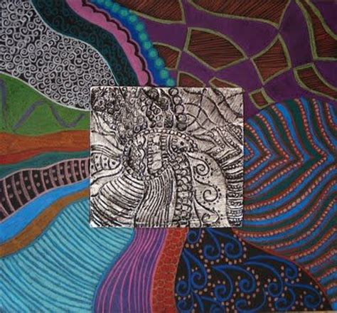 embossed foil project  grade middle school art