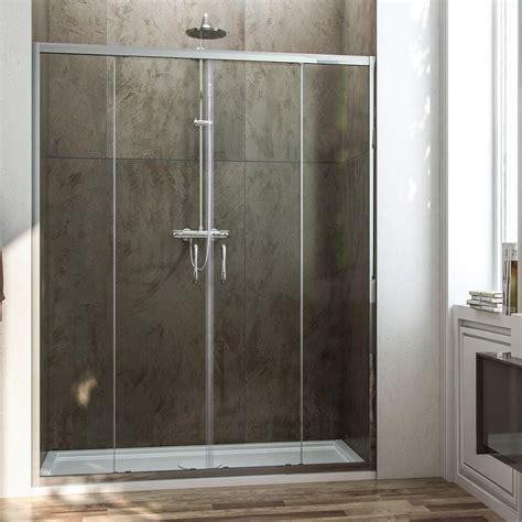 cristallo doccia porta doccia con due ante scorrevoli per nicchia h 185 198