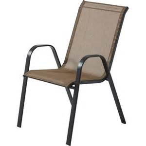 mainstays heritage park stacking sling chair tan