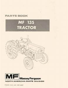 Massey Ferguson Mf 135 Tractor Parts Book Manual Mf135