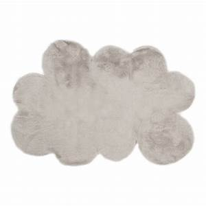 tapis nuage gris clair pilepoil decoration smallable With tapis nuage gris