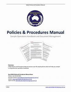 Soga Policies Procedures Manual Software Sample