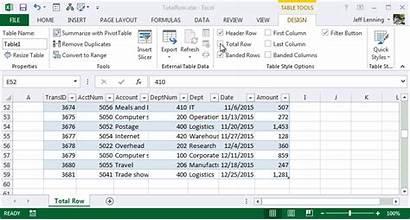 Excel Row Total Table University Worksheet Data