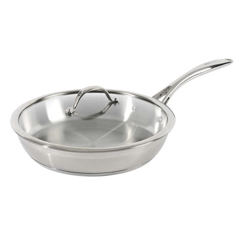 professional stainless steel frying pan  lid uncoated cm professional stainless steel