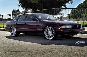 1996 Chevy Impala SS On 22quot AC Forged Wheels Split 10 Brush Face Chrome Lip BlogBlog