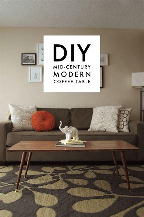 Diy Midcentury Modern Coffee Table  A Pair Of Pears