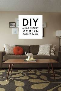 Pdf diy danish modern diy download desk building wood for Small mid century modern coffee table