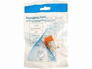 Cat5e Rj45 Modular Keystone Jack  110 Style  Orange