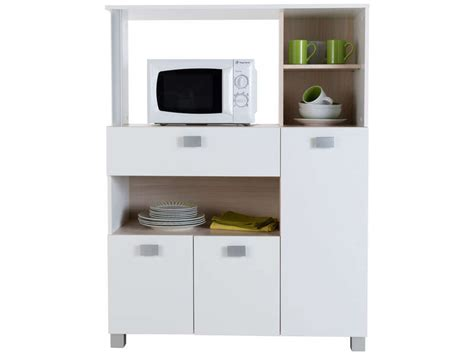 cuisine micro onde desserte basilic coloris blanc vente de meuble micro