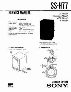 Sony Fh-b50cd  Fh-b55cd  Ss-h77 Service Manual