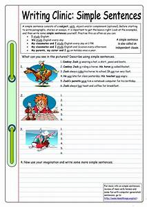 Writing Clinic  Simple Sentences Worksheet