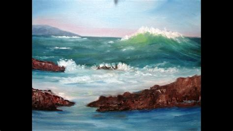 february   oil painting big wave coming full