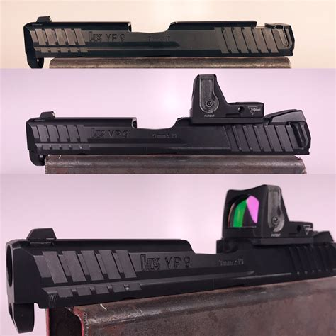 red dot reflex sight  cut  hk  fn  glock ch precision weapons