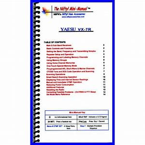 Instruction Manual For The Yaesu Vx
