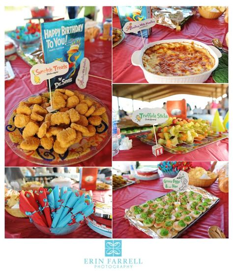 dr seuss suess books themed food with thing