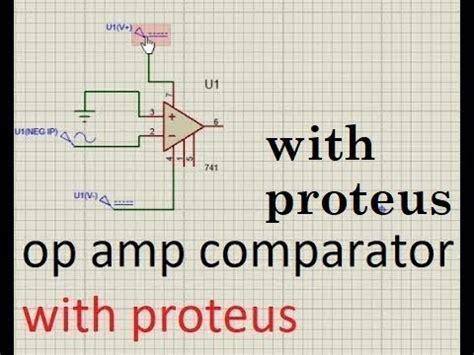 Operational Amplifier Amp Comparator Proteus Circuit