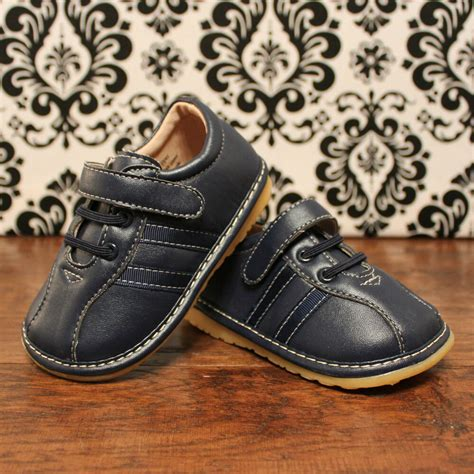 navy blue toddler boy squeaky shoes sizes 3 4 5 6 7 379 | s l1000