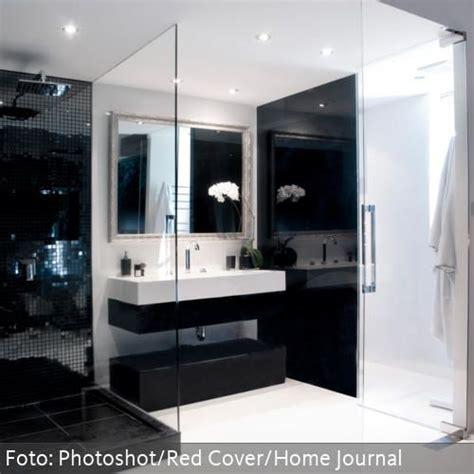 Offene Dusche Glaswand by Waschtisch In Schwarz Wei 223 Und Offene Dusche Mit Glaswand