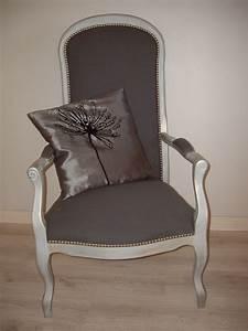 Fauteuil Style Voltaire : restauration fauteuil voltaire et son repose pied le bric brac de pamou ~ Teatrodelosmanantiales.com Idées de Décoration
