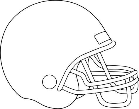 blank football helmet  coloring  clip art