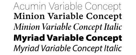 New Variable Fonts From Adobe Originals