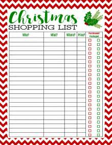 freebie printable christmas shopping list mom 4 real