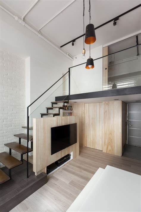 Loft Character by A Modern Loft With Character Home Designing