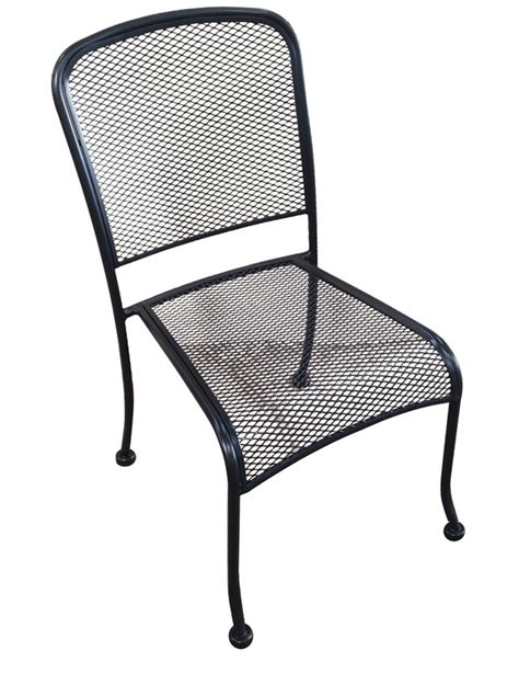 outdoor wrought iron stackable side chair mc19s hnd