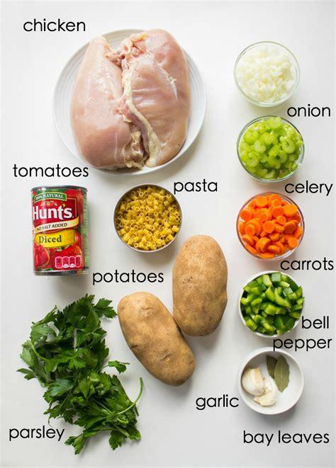 soup ingredients sicilian chicken soup little broken