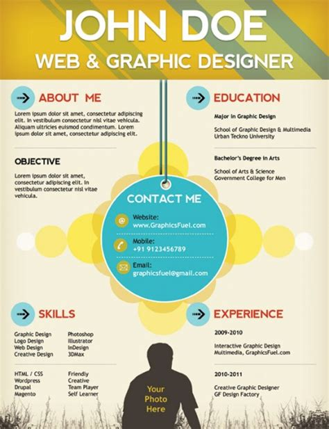 Web Designer Cv Template by Top 10 Free Resume Templates For Web Designers