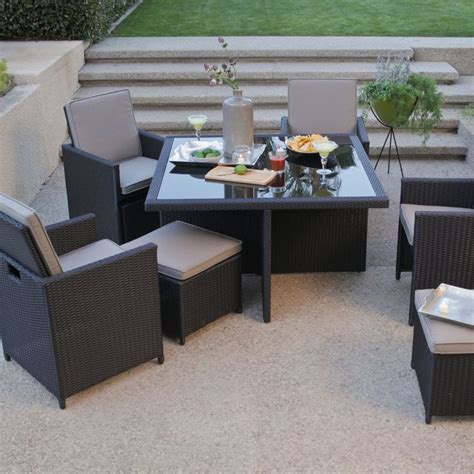 All Weather Garden Furniture Sets by All Weather Wicker Nesting Patio Furniture Dining Set