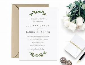 invitation printable greenery wedding invitation With greenery wedding invitations free